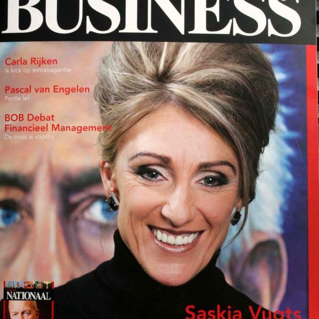 De cover van het Regio Business magazin, januari 2013 met Saskia Vugts