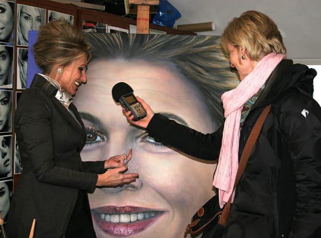 Interview Saskia Vugts met Omroep Brabant over portretten van leden van het konigsnhuis