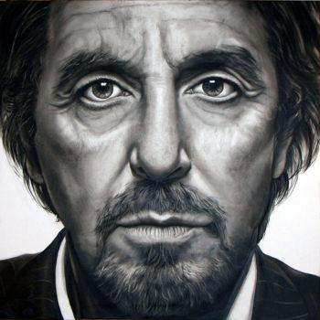 Olieverfportret van Al Pacino door Saskia Vugts