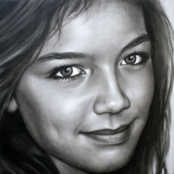 Olieverfportret van Anoek door Saskia Vugts