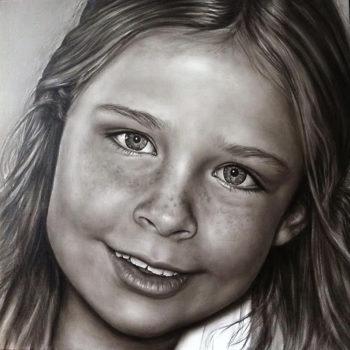 Olieverfportret van Charlotte door Saskia Vugts