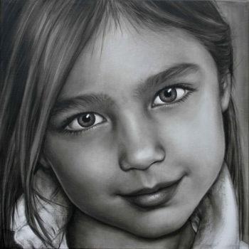 Olieverfportret van Dominique door Saskia Vugts