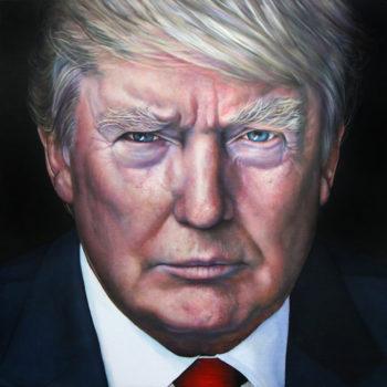 Olieverfportret van Donald Trump door Saskia Vugts