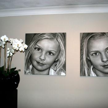 Olieverfportretten van Eline en Noa door Saskia Vugts