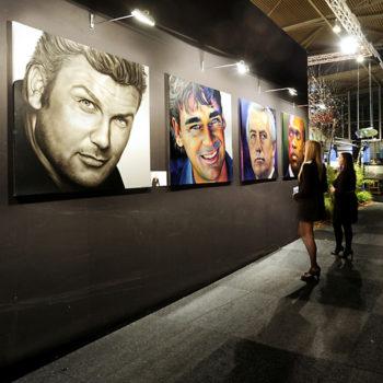 Olieverfportretten door Saskia Vugts op de excellentbeurs in Amsterdam