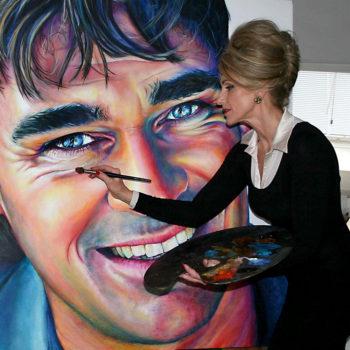 Olieverfportret van Jeroen van der Boom door Saskia Vugts