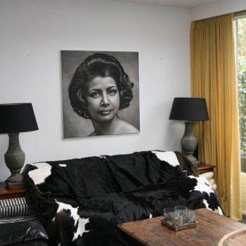 Olieverfportret van Letitia Groenen door Saskia Vugts
