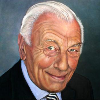 Olieverfportret van Piet Lathouwers door Saskia Vugts