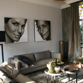 Olieverfportretten van Sandra Bullock en Halle Berry door Saskia Vugts