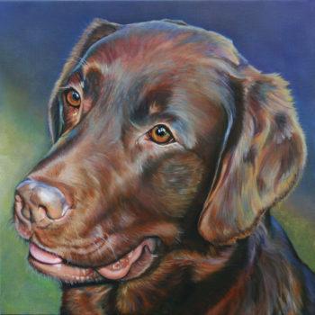 Olieverfportret van Veron door Saskia Vugts