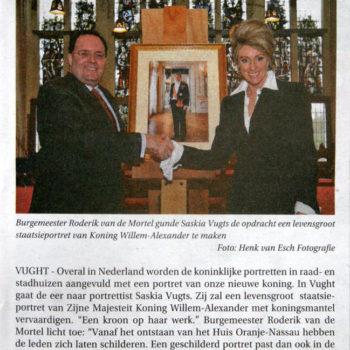 Bossche Omroep Staatsieportret Koning Willem Alexander (12-1-2014)
