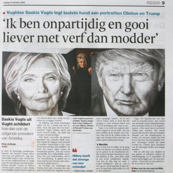 Brabants Dagblad Painting the next Presiden (14-10-2016)