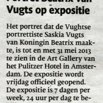 Brabants Dagblad Portret Beatrix Putlitzer Amsterdam (27-2-2013)