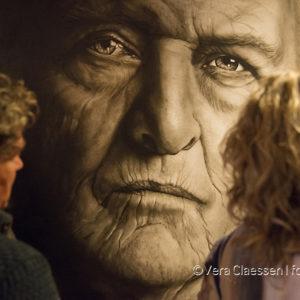 Rutger Hauer door Saskia Vugts tijdens haar expositie 'Sterren Kijken' in Theater aan de Parade