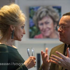 Saskia Vugts en burgemeester v/d Mortel