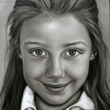 Olieverfportret van Babette door Saskia Vugts
