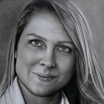 Olieverfportret van Danique door Saskia Vugts