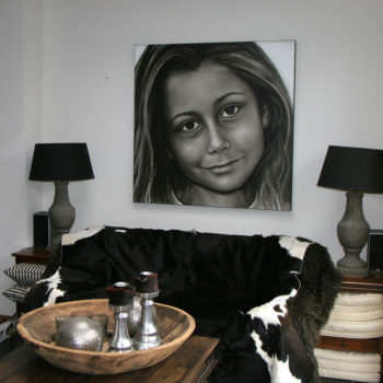 Olieverfportret van Fabiënne door Saskia Vugts