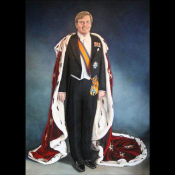 Staatsieportret van Koning Willem Alexander door Saskia Vugts