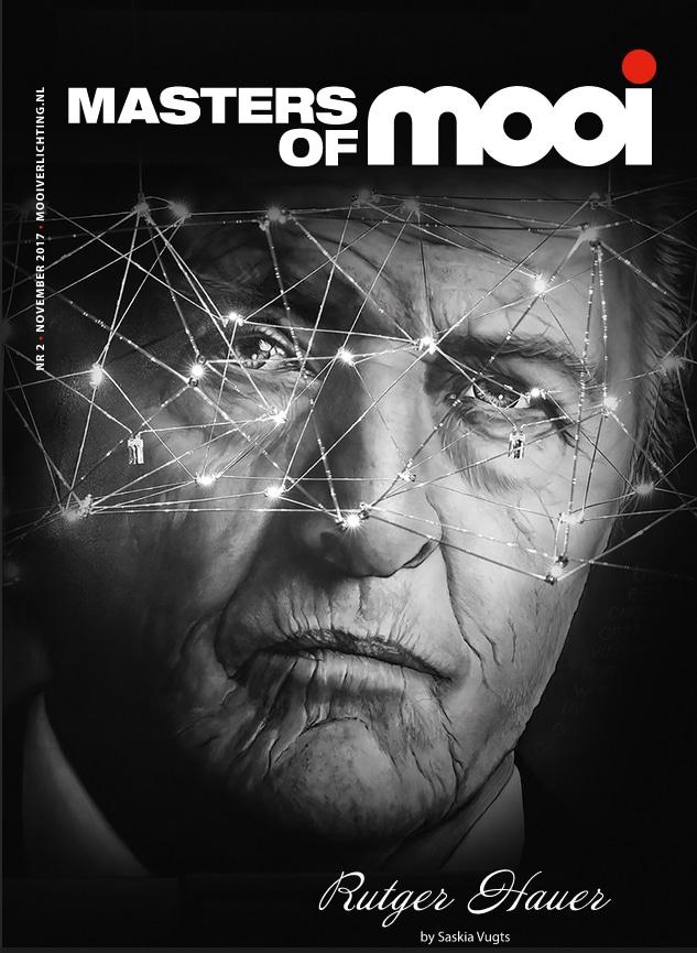 Portret van Rutger Hauer op de cover van Mooi magazine