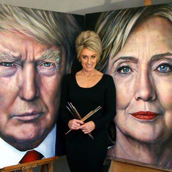 Saskia-Vugts-portretschilder_Hillary-Clinton_Donald-Trump website