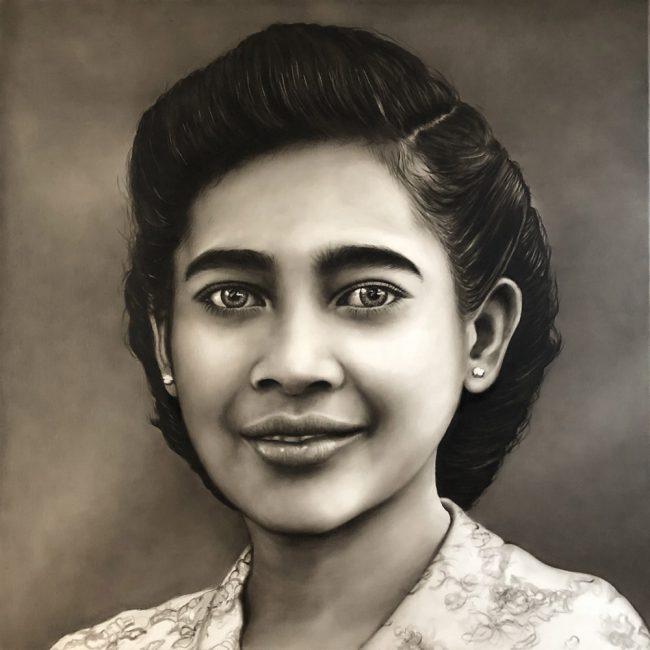 Portret in opdracht overleden moeder