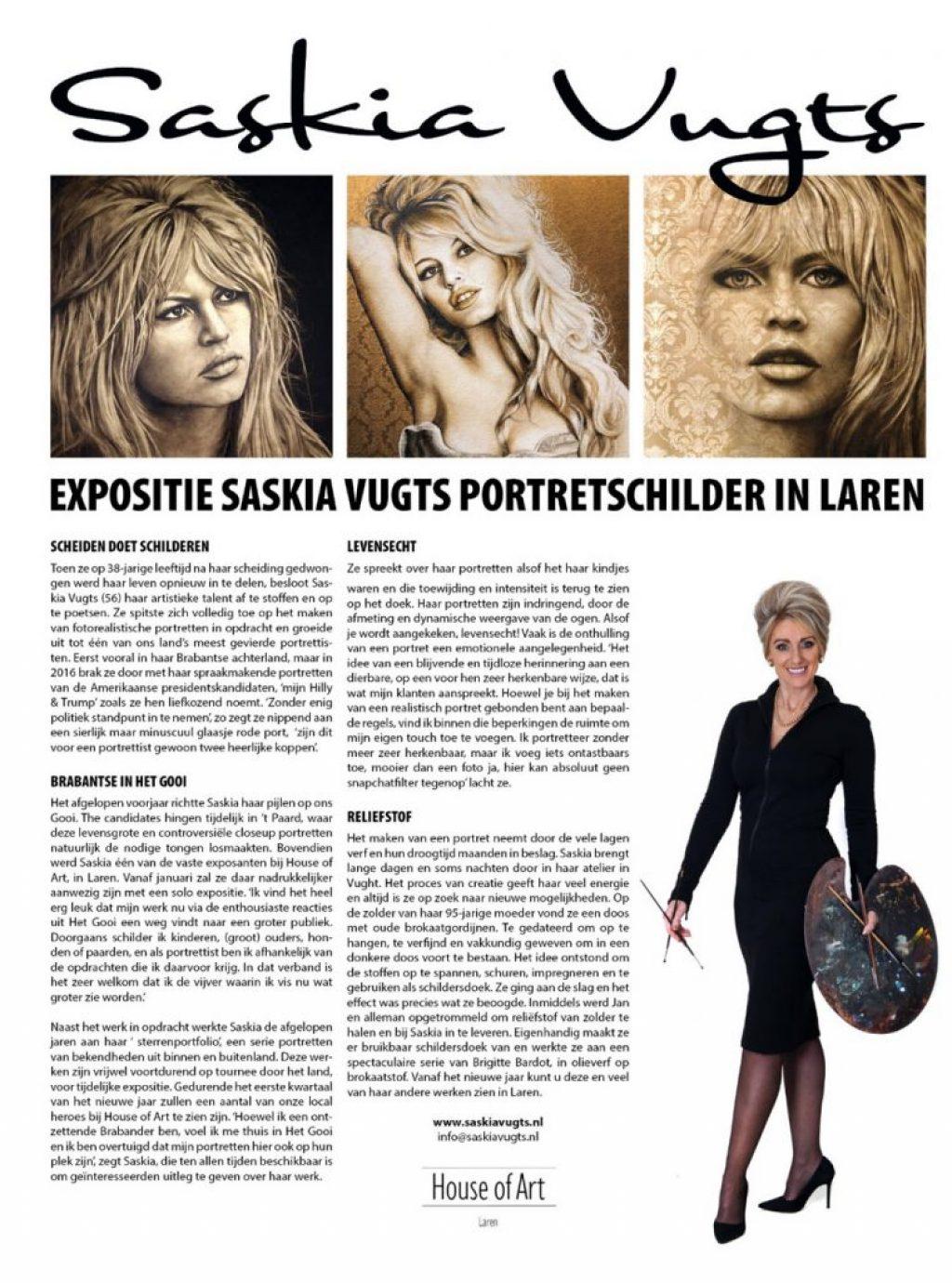 Saskia Vugts Portretschilder Nicole's Gooisch Blad klein
