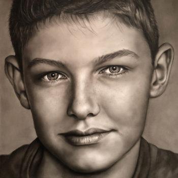 Kinderportret handgeschilderr olieverf