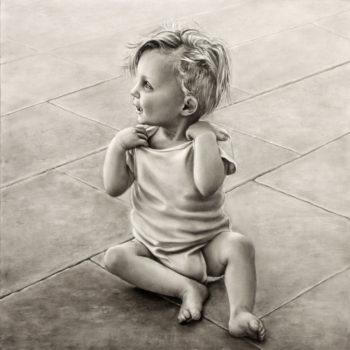 olieverfportret meisje 1 jaar oud