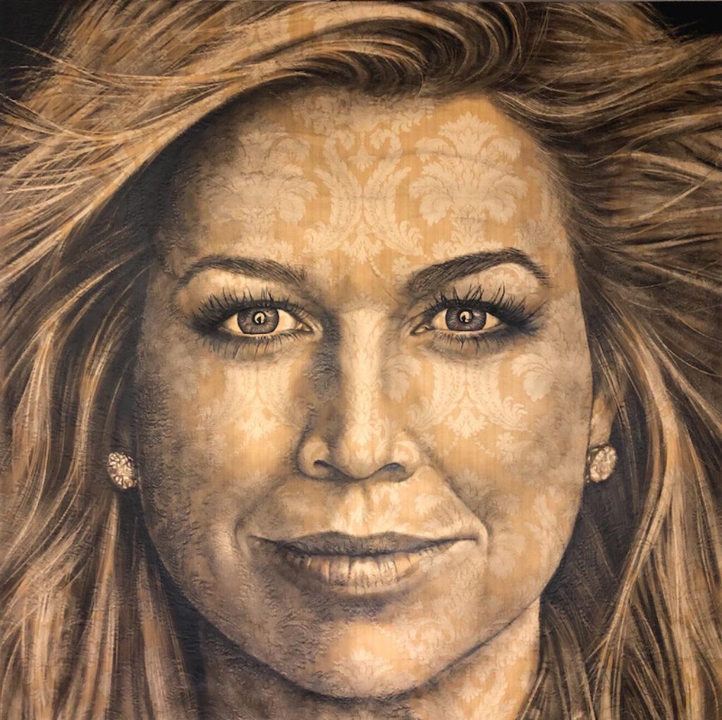 Nieuwsbrief Saskia-Vugts-portretschilder-geschilderd-portret-Koningin-Maxima)
