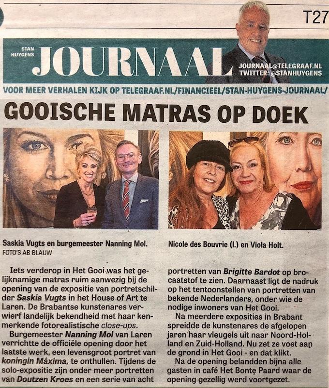 Stan Huygens Journaal, De Telegraaf | 23 januari 2020