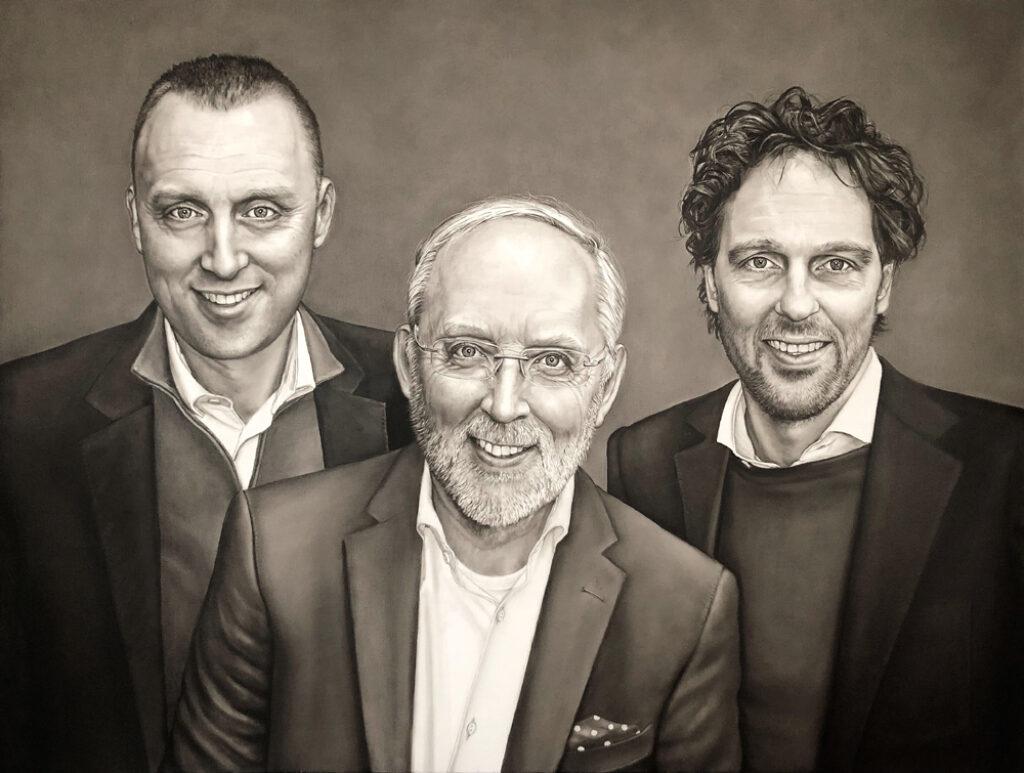 Saskia Vugts Portretschilder Vanad Group 15 jarig bestaan 110x145cm klein