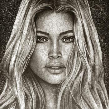 Saskia-Vugts-Portretschilder_Doutzen-Kroes_oilportrait brocate 115 klein