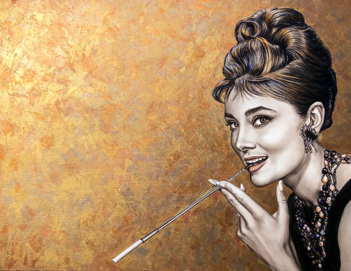 Audrey Hepburn Breakfast at Tiffany's 100 x 130 cm 7 november 2020 klein 1