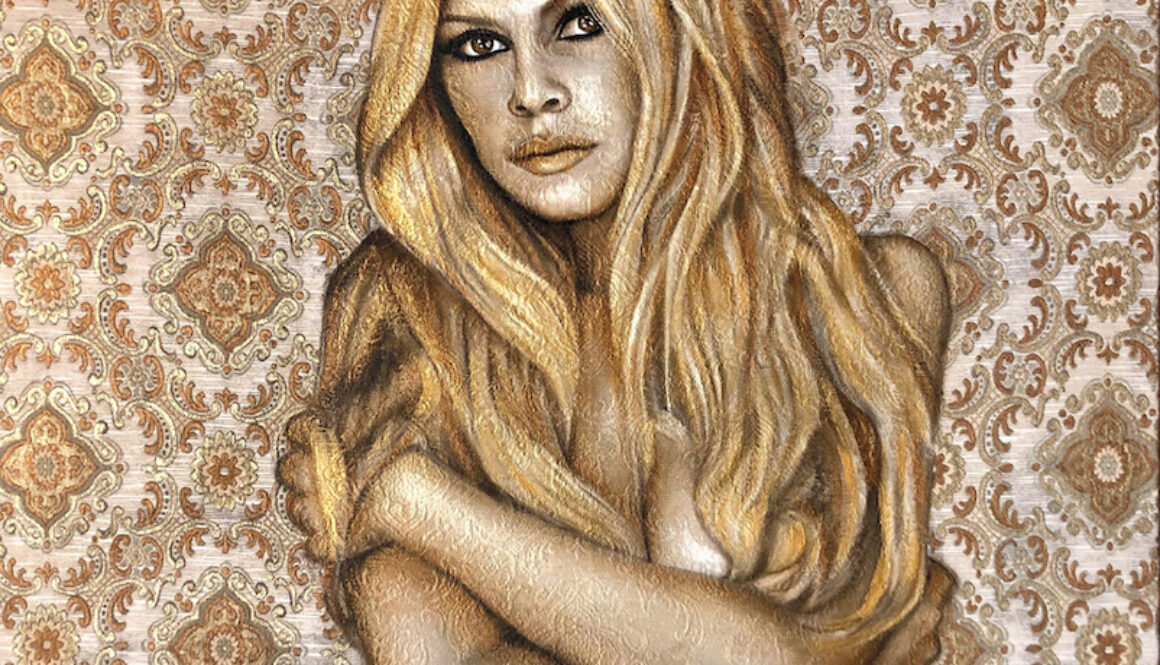 saskia_vugts_portretschilder_Brigitte-Bardot 10 BB Belly 100x100