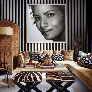 Portretschilder portret in opdracht zwart wit Halle Berry