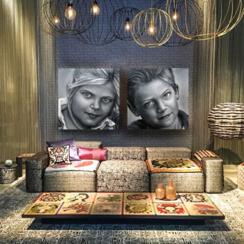 Portretschilder-portret-laten-schilderen tweeluik in opdracht